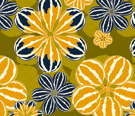 It's Gourd Flowers! fabric by newmomdesigns on Spoonflower - custom fabric