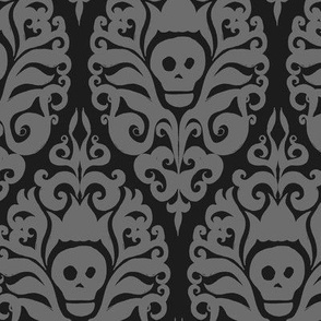 Spooky Damask - Black