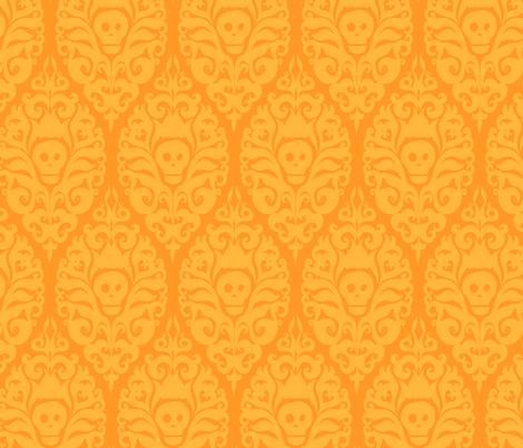 Spooky Damask - Orange fabric by pattysloniger on Spoonflower - custom fabric