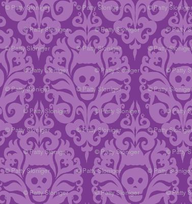 Spooky Damask - Purple