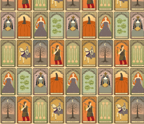 Harvest Tarot fabric by francine on Spoonflower - custom fabric