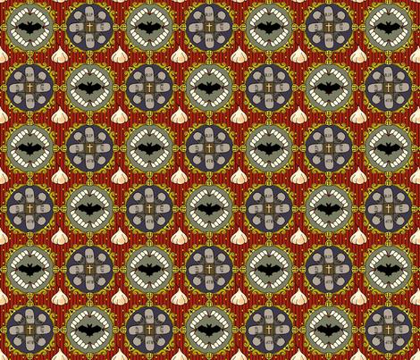 Nosferatu in Scarlet fabric by madeleine13 on Spoonflower - custom fabric