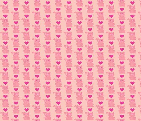 Pink Kitten 2: Pink Overkill fabric by lulakiti on Spoonflower - custom fabric