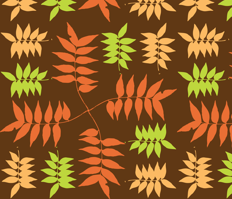 Fall Leaves fabric by audreyclayton on Spoonflower - custom fabric