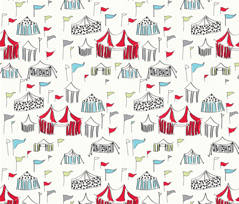 Big Top Circus - Red Colorway fabric by alexiaabegg on Spoonflower - custom fabric