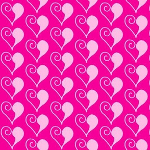 Doodle Hearts - Pink