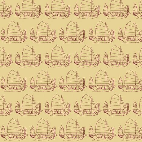 Chinese Boat fabric by siya on Spoonflower - custom fabric