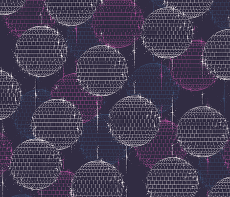 Disco Ball (Large) fabric by siya on Spoonflower - custom fabric