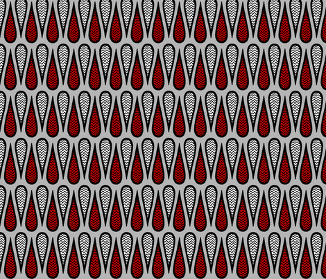 Teardrop Doodle-Zag fabric by siya on Spoonflower - custom fabric