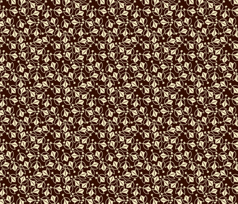 Young Buds on Brown fabric by siya on Spoonflower - custom fabric