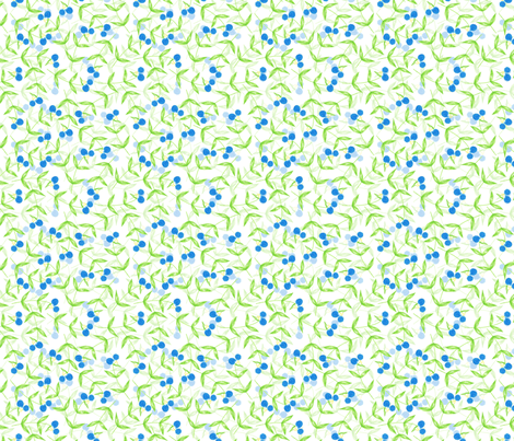 Asiatic Dayflower fabric by siya on Spoonflower - custom fabric