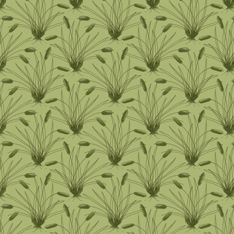 Cattails fabric by siya on Spoonflower - custom fabric