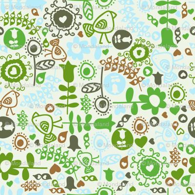avian flora (green)