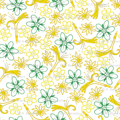 Multifloral - Gold Lines