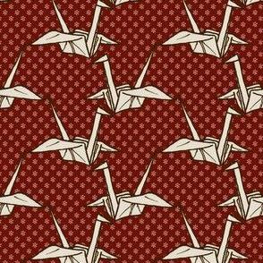 Paper Crane - Dark Red