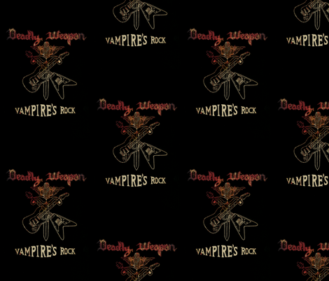 Vampire's Rock  fabric by paragonstudios on Spoonflower - custom fabric