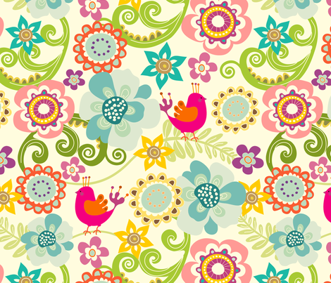 Songbird 01 fabric by thepatternsocial on Spoonflower - custom fabric