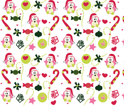 KooKoo Christmas fabric by sbd on Spoonflower - custom fabric