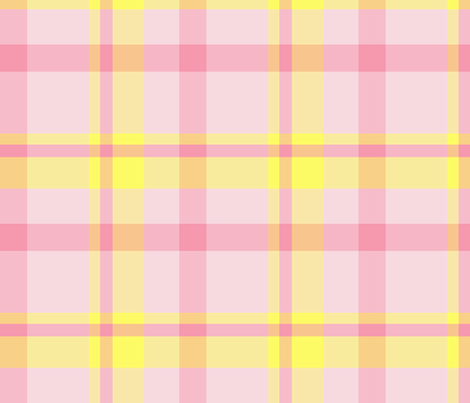 Pink and Yellow Plaid fabric by oranshpeel on Spoonflower - custom fabric