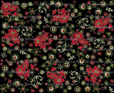 Christmas Flora / black