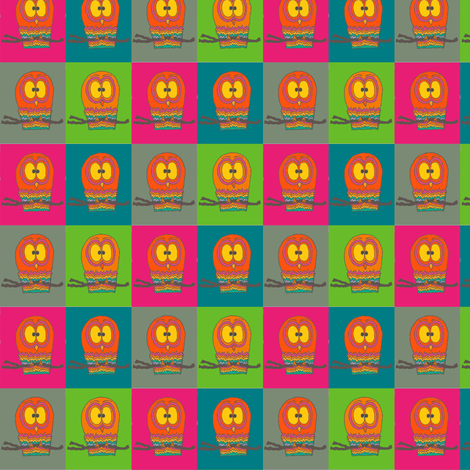 CurlyPops - Owlie Oracle  fabric by curlypops on Spoonflower - custom fabric