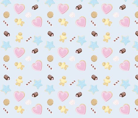 cookiemotivo fabric by sarafornell on Spoonflower - custom fabric