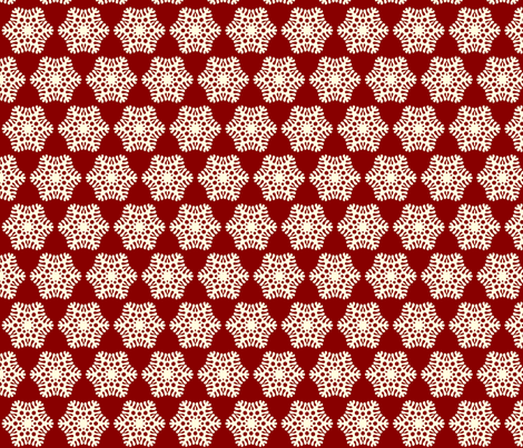 snowflake fabric by fluffygeek on Spoonflower - custom fabric