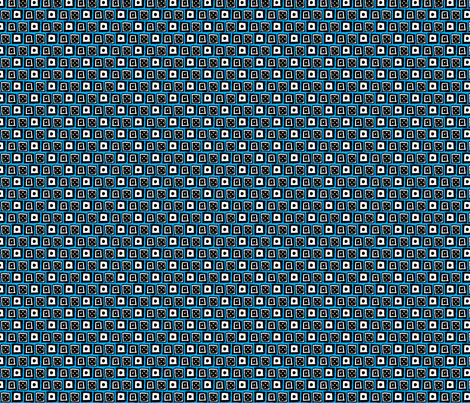 Doodle Boxes - Blue fabric by siya on Spoonflower - custom fabric