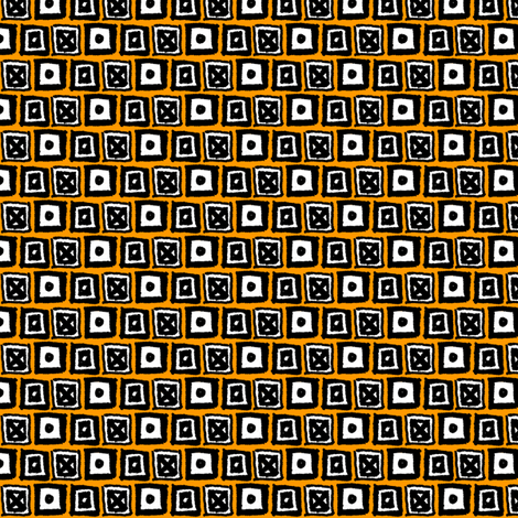 Doodle Boxes - Yellow fabric by siya on Spoonflower - custom fabric