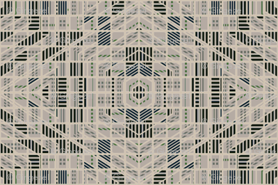 Very Geometric Green and beige © Gingezel™ 2012