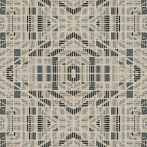 Very Geometric Green and beige © Gingezel™ 2012