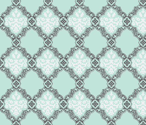 Granny's Garden fabric by madeleine13 on Spoonflower - custom fabric