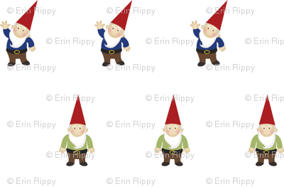 Woodland Gnomes on White