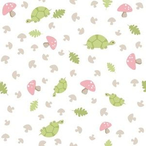 Turtles Wander - Pink