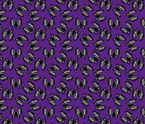Black Lace Butterflies - Purple fabric by siya on Spoonflower - custom fabric