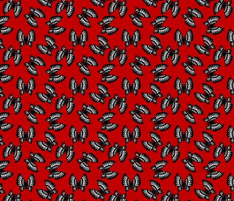 Black Lace Butterflies - Red fabric by siya on Spoonflower - custom fabric