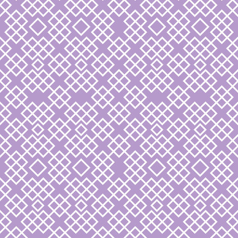 Trellis lilac and white fabric by ravynka on Spoonflower - custom fabric