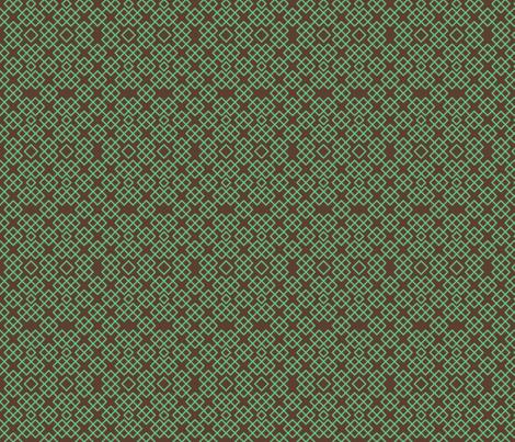 trelischocolateandmint fabric by ravynka on Spoonflower - custom fabric