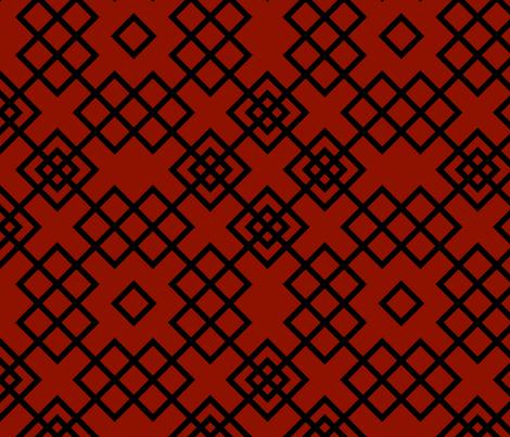 Trellis red and black fabric by ravynka on Spoonflower - custom fabric