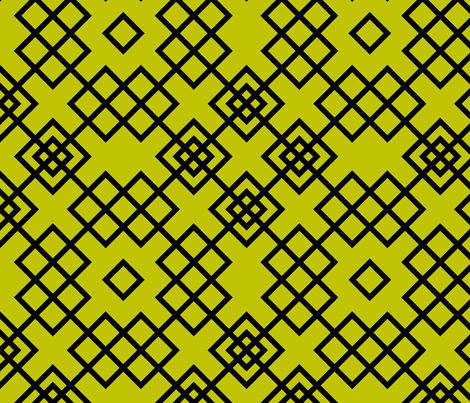 trellis olive and black fabric by ravynka on Spoonflower - custom fabric