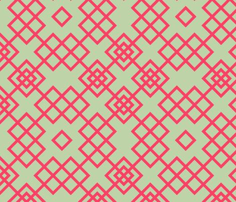 trellis red and grey fabric by ravynka on Spoonflower - custom fabric
