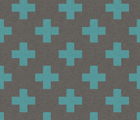 plus_one_teal fabric by holli_zollinger on Spoonflower - custom fabric