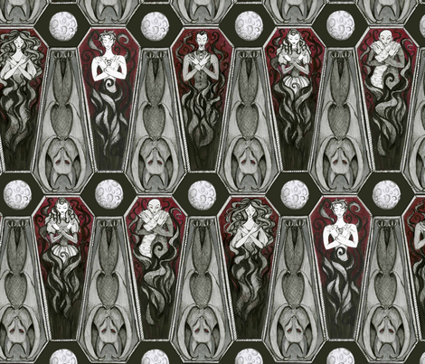 The Undead, Abed  fabric by ceanirminger on Spoonflower - custom fabric
