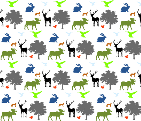 woodlands fabric by koffeycakes on Spoonflower - custom fabric