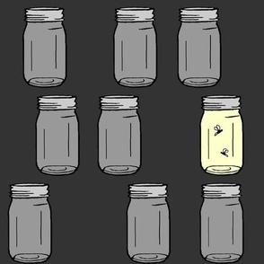 firefly jar - grey