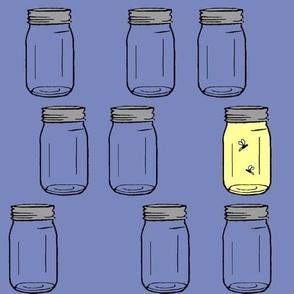 firefly jars - purple