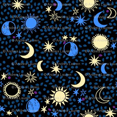 Bedtime Moon Stars Night - by Andrea Lauren