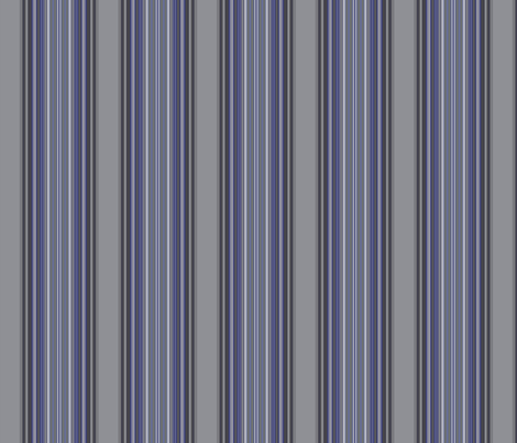 Grey Zones Stripe in Lapis Blue large fabric by gingezel on Spoonflower - custom fabric