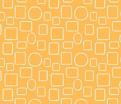 Yellow Lace fabric by cleverviolet on Spoonflower - custom fabric