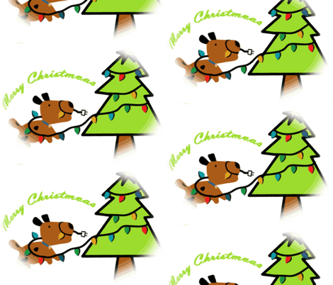 Merry Dog Christmas fabric by sbd on Spoonflower - custom fabric